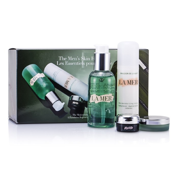 La Mer Essentials Set: Cleansing Gel 100ml + Moisturizing Lotion 50ml 4pcs+1bag