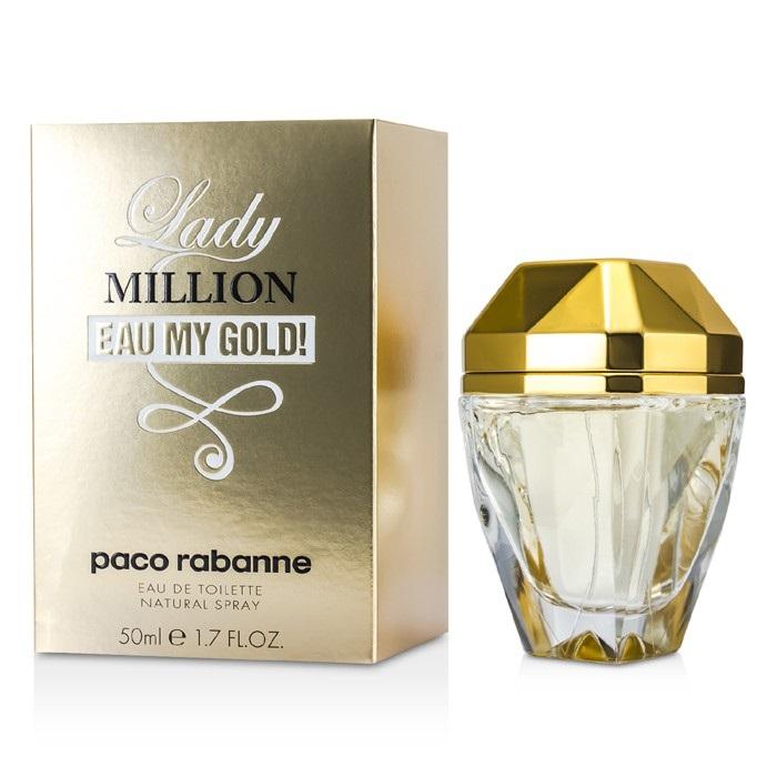 Paco rabanne lady million eau my gold edt spray 50ml for Paco rabanne women s fragrance