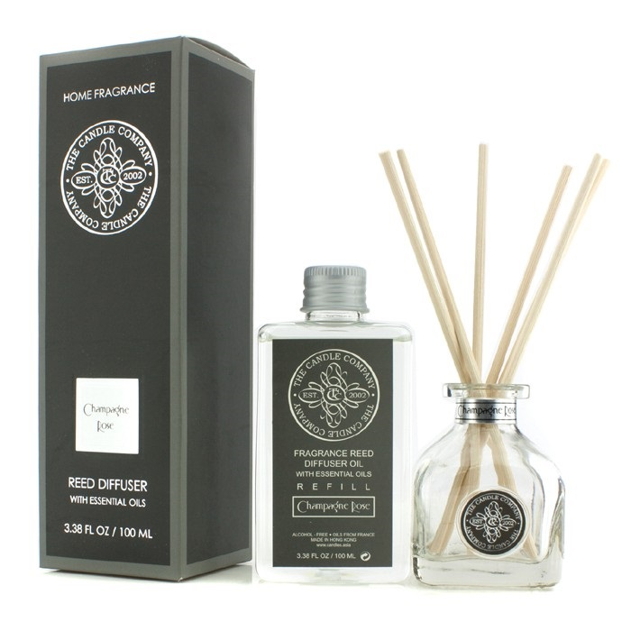 The Candle Company Reed Diffuser With Essential Oils Champagne Rose 100ml Home Ebay