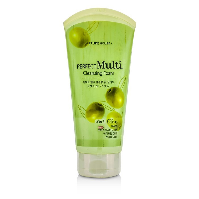 Etude House Perfect Multi Cleansing Foam 3 in 1 - Olive 170ml Womens Skin Care