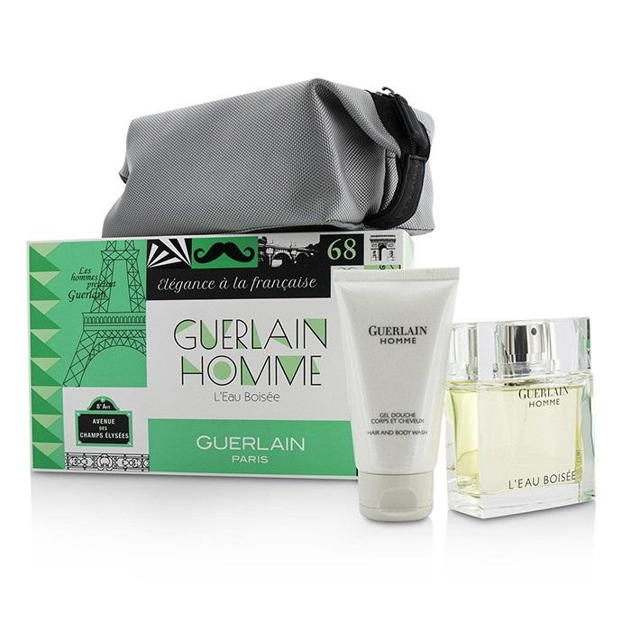 Guerlain Homme L'Eau Boisee Coffert: EDT Spray 80ml/2.7oz + Hair and Body Wash