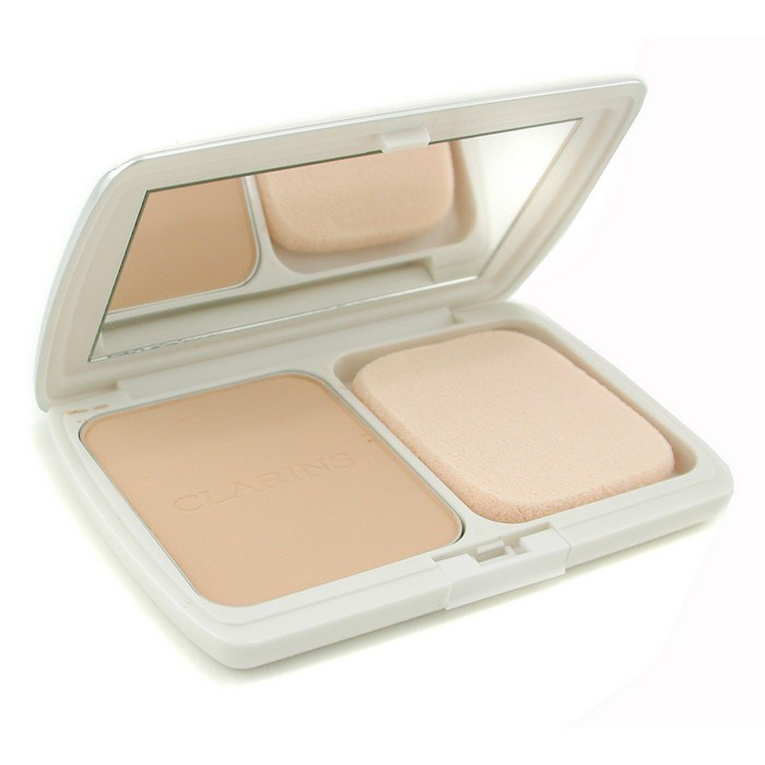 Clarins Perfume Refill: Clarins UV Plus Total Fit Powder Foundation SPF30 (Case + Refill) - # 01 Ivory Beige