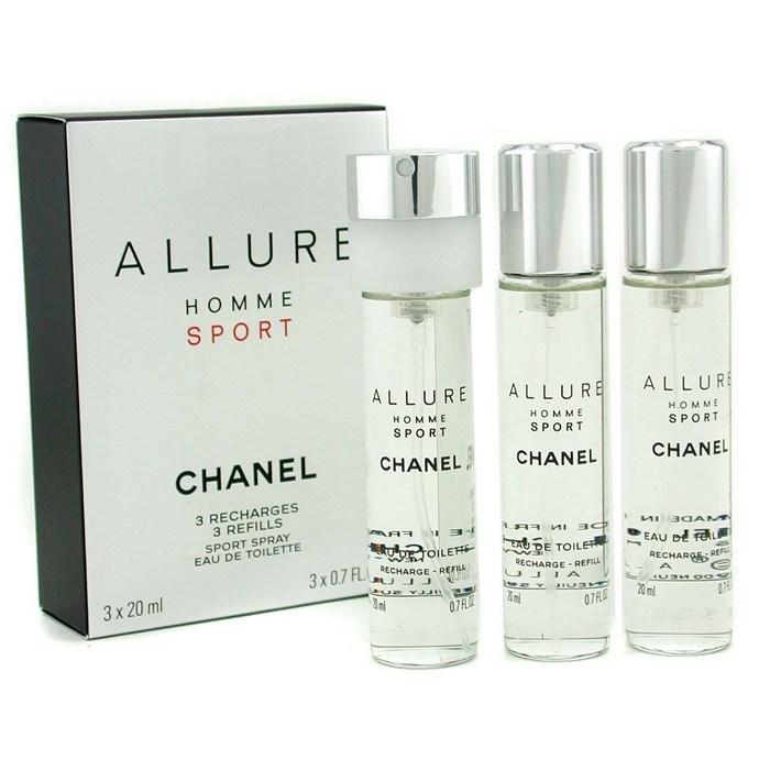 chanel allure homme sport edt travel spray refills 3 refills fresh. Black Bedroom Furniture Sets. Home Design Ideas