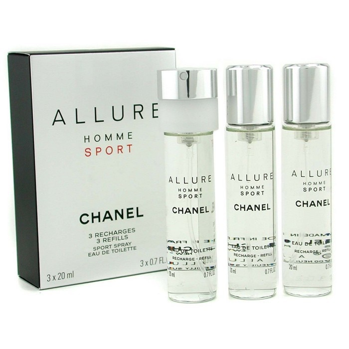c790c89d8556 Chanel Allure Homme Sport EDT Travel Spray Refills (3 Refills). Loading zoom