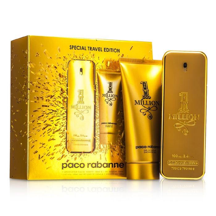 0ab3a3ab2a296 One Million Special Travel Edition Coffret  EDT Spray 100ml 3.4oz + Shower  Gel 100ml 3.4oz - Paco Rabanne
