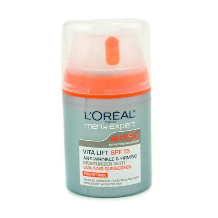 004b41fb3d53 L'Oreal Men Expert Vita Lift Anti-Wrinkle & Firming Moisturizer with UVA/  UVB SPF 15 Men's Skincare