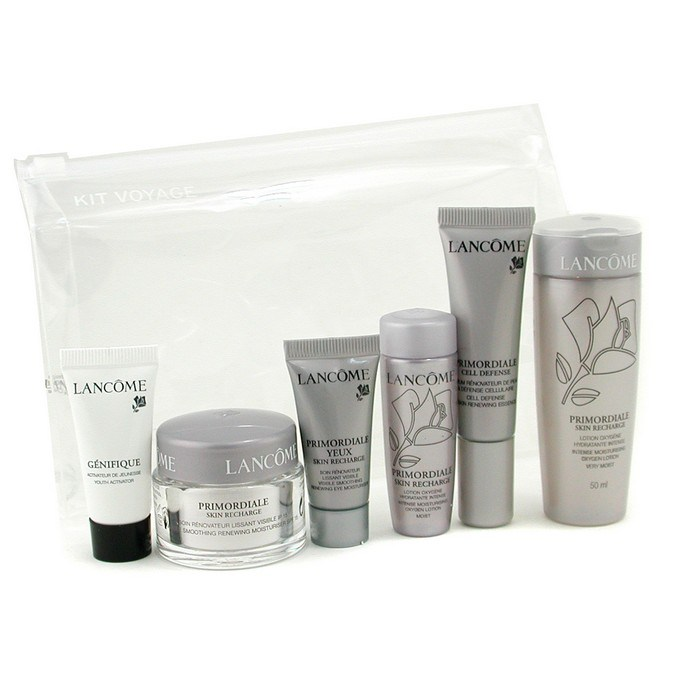Lancome Primordaile Skin Recharge Travel Set: 2x Lotion + Day Cream + Eye  Cream + Essence + Genifique Concentrate Skincare