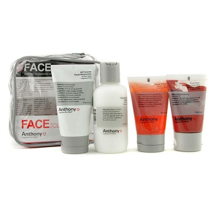 anthony logistics for men facial scrub