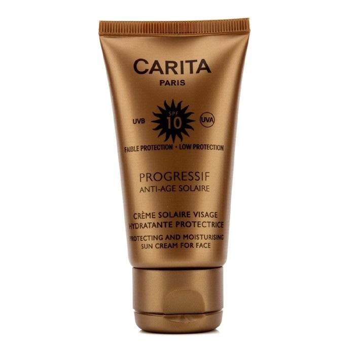 progressif anti age solaire protecting moisturizing sun cream for face spf 10 carita f c. Black Bedroom Furniture Sets. Home Design Ideas