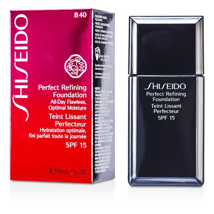 shiseido perfect refining foundation spf15 b40 natural. Black Bedroom Furniture Sets. Home Design Ideas