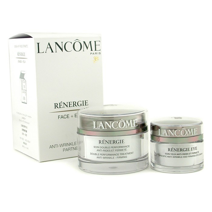 Lancome Renergie Cream & Eyes Set: Cream 50ml/1 7oz + Eye Cream 15ml/0 5oz  Skincare