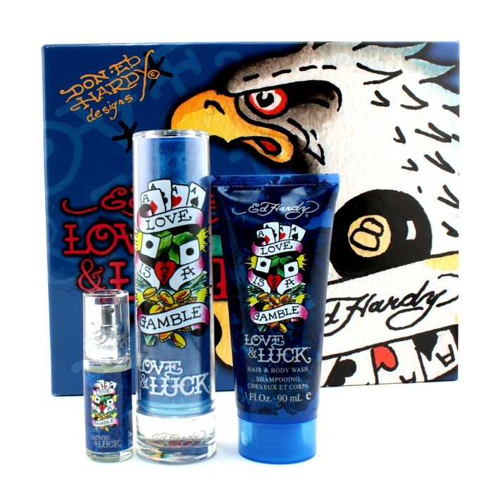 Ed Hardy Love Luck By Christian Audigier Eau De Parfum Women S Spray Perfume: Christian Audigier ED Hardy Love & Luck Eagle Coffret: Edt Spray 50ml/1.7oz + Hair & Body Wash