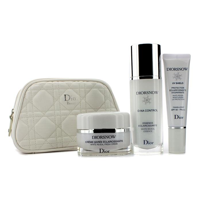 2da0782e Christian Dior Diorsnow White Reveal Program Set: White Reveal Essence +  Fresh Cream + Moisturizing UV Protection SPF 50 + Bag Skincare