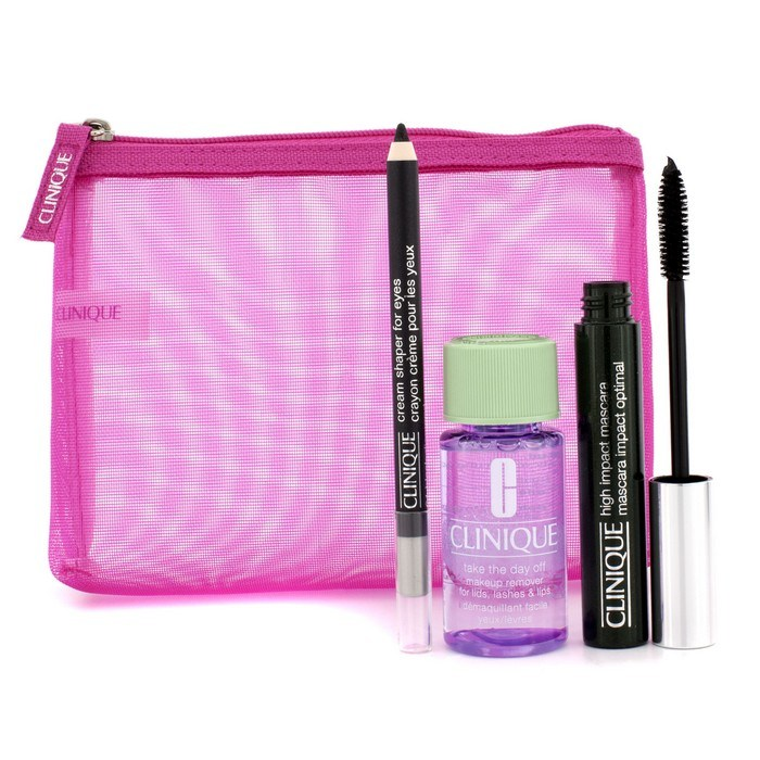 5076152758b High Impact Favourites Set: High Impact Mascara + Cream Shaper For Eyes +  Take The Day Off + Bag - Clinique | F&C Co. USA