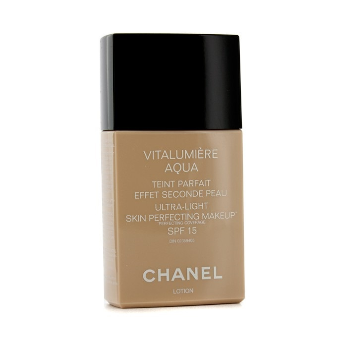 chanel vitalumiere aqua ultra light skin perfecting makeup spf15 10 beige fresh. Black Bedroom Furniture Sets. Home Design Ideas