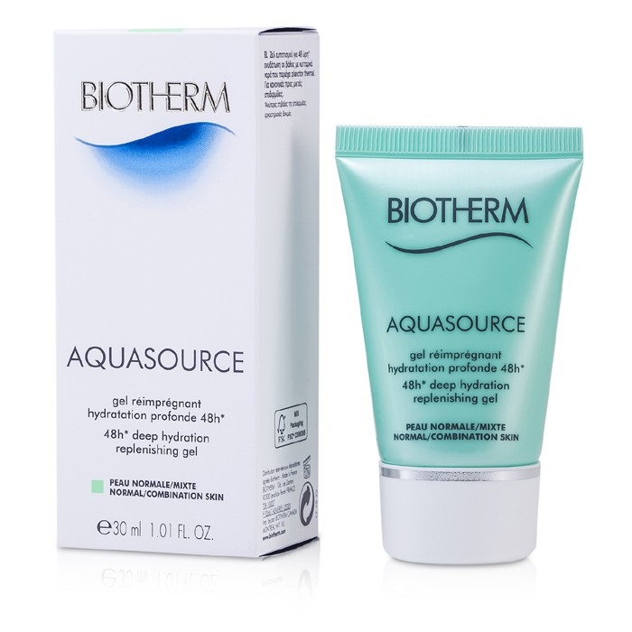 biotherm aquasource 48h deep hydration replenishing gel normal combination skin fresh. Black Bedroom Furniture Sets. Home Design Ideas