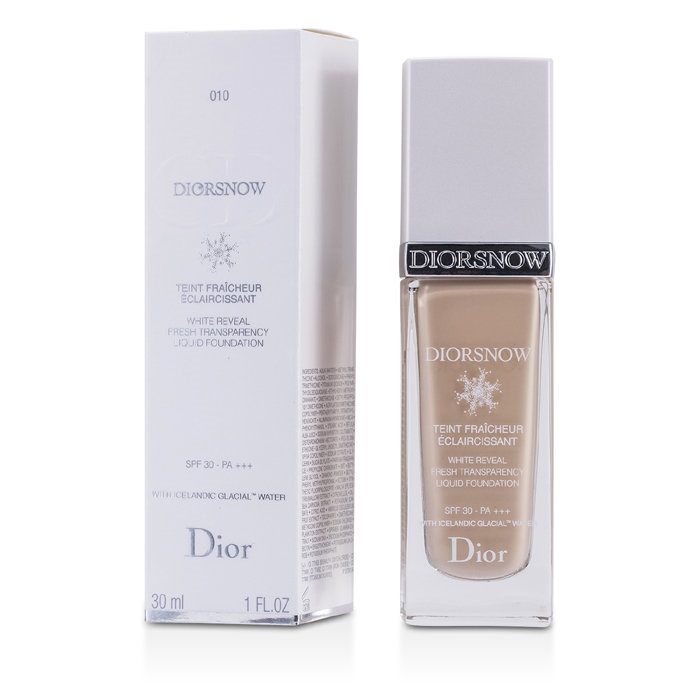 e08c7966 Christian Dior Diorsnow White Reveal Fresh Transparency Liquid Foundation  SPF 30 - # 010 Ivory Makeup