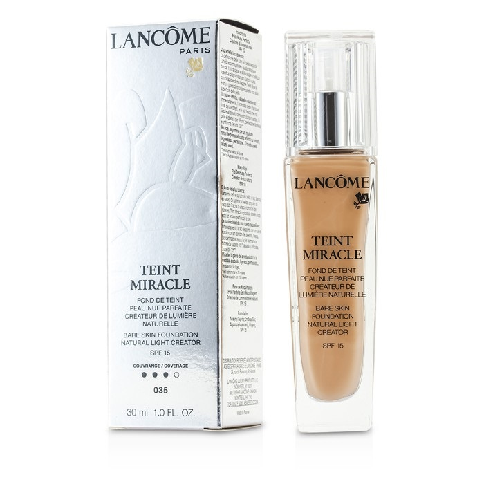 teint miracle bare skin foundation natural light creator spf 15 035 beige dore lancome f. Black Bedroom Furniture Sets. Home Design Ideas