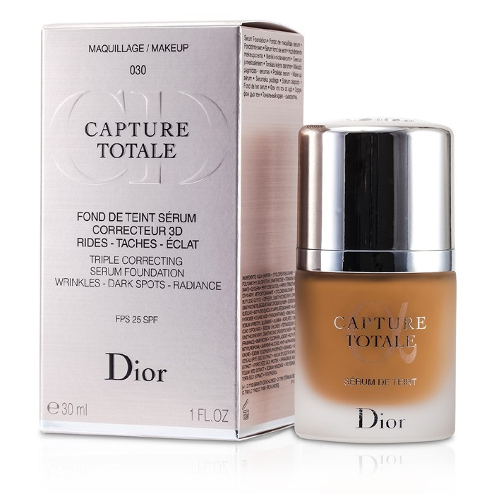 christian dior capture totale triple correcting serum foundation spf25 030 medium beige fresh. Black Bedroom Furniture Sets. Home Design Ideas