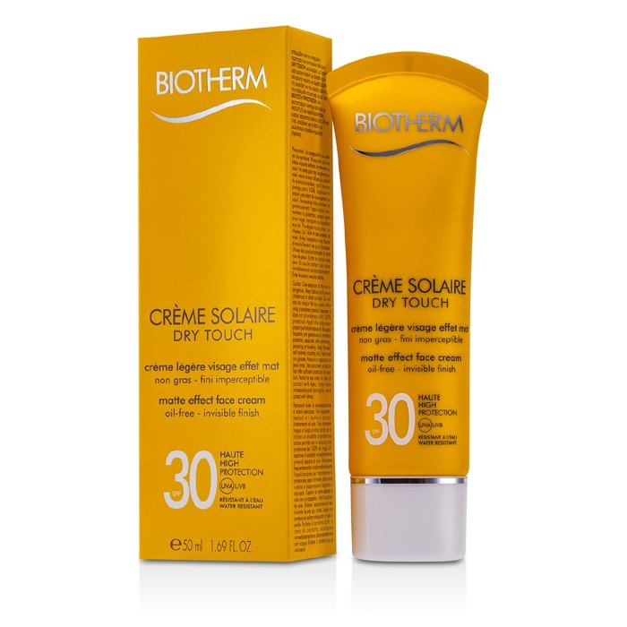 biotherm creme solaire spf 30 dry touch uva uvb matte effect face cream fresh. Black Bedroom Furniture Sets. Home Design Ideas