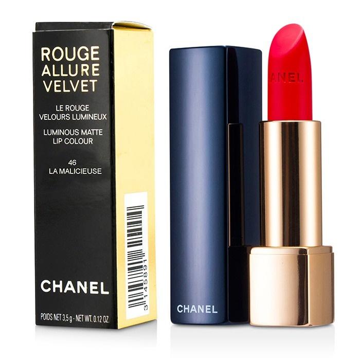 Chanel Rouge Allure Velvet 46 La Malicieuse Makeup