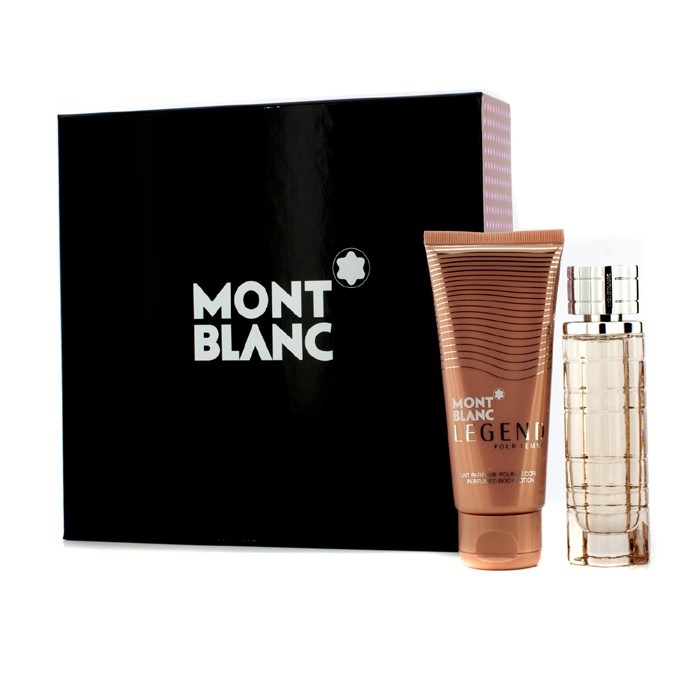 mont blanc legend pour femme coffret edp spray 50ml body lotion 100ml fresh. Black Bedroom Furniture Sets. Home Design Ideas