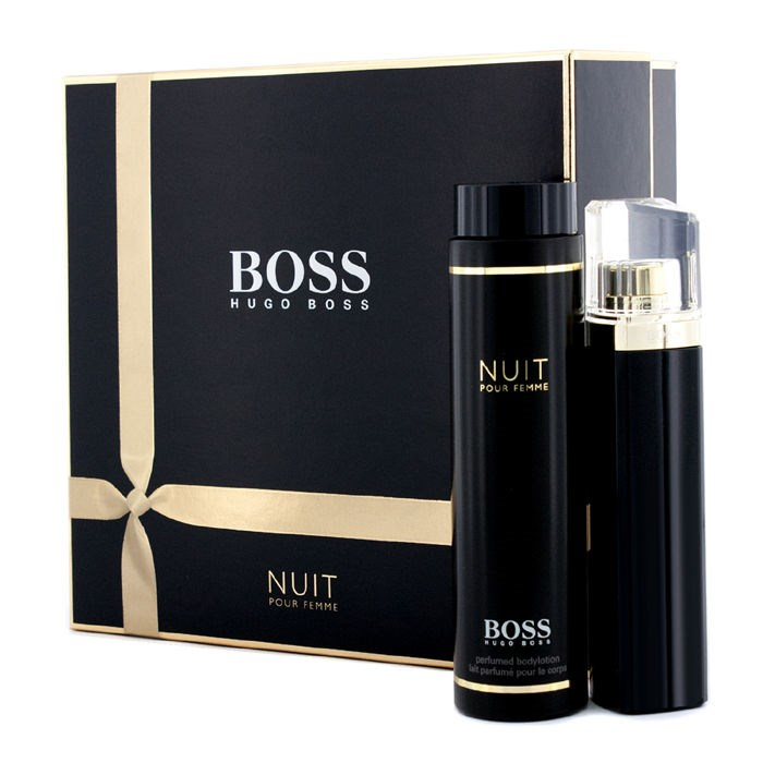 hugo boss boss nuit pour femme coffret edp spray 75ml 2. Black Bedroom Furniture Sets. Home Design Ideas