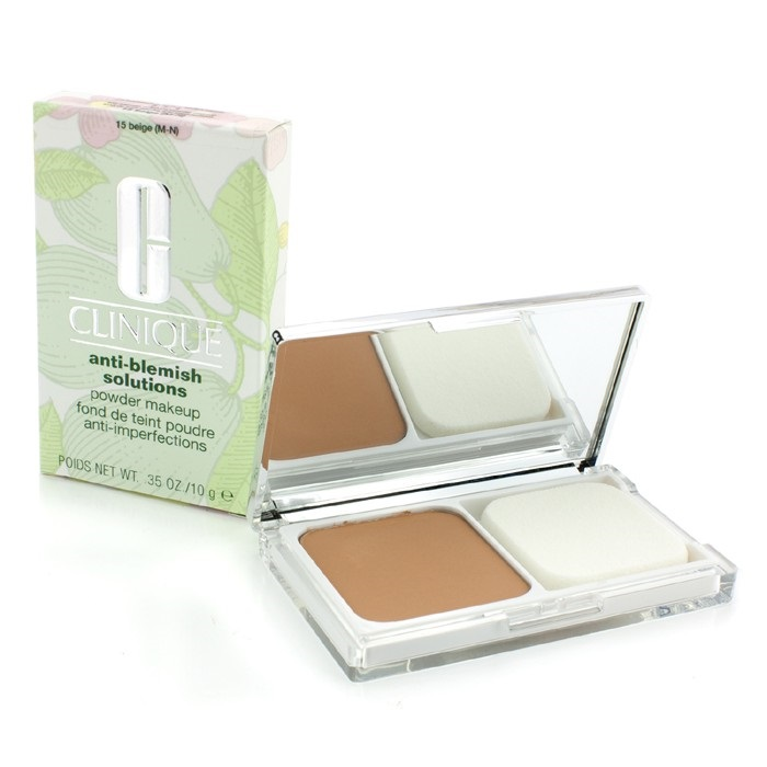 Lõi + vỏ Phấn trang điểm trị mụn Clinique Anti Blemish Solutions Powder Makeup 10g