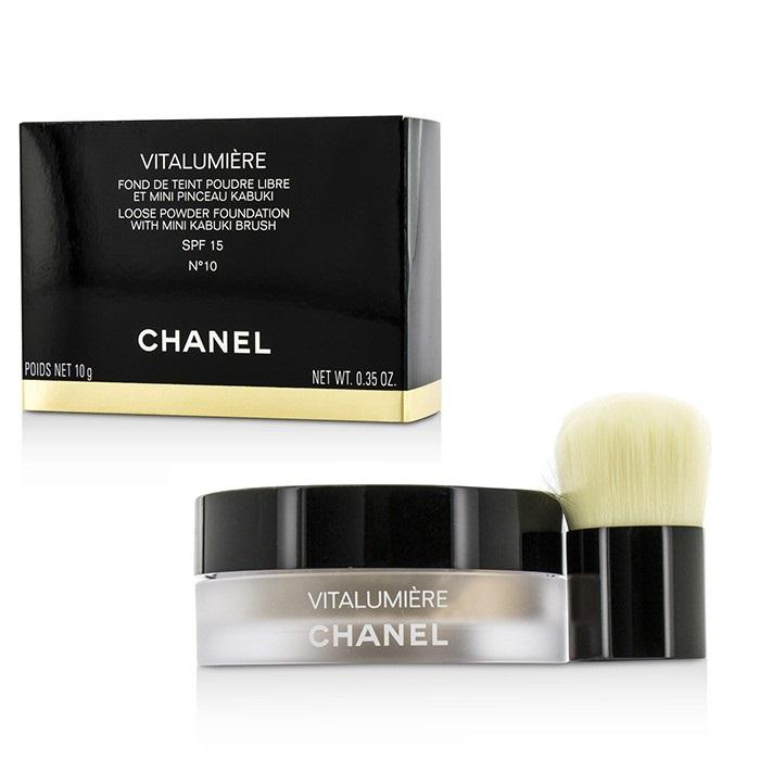 b370a85f3fba Chanel Vitalumiere Loose Powder Foundation SPF15 With Mini Kabuki Brush - #  10. Loading zoom