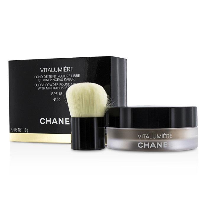76017c358ea1 Chanel Vitalumiere Loose Powder Foundation SPF15 With Mini Kabuki Brush - #  40. Loading zoom