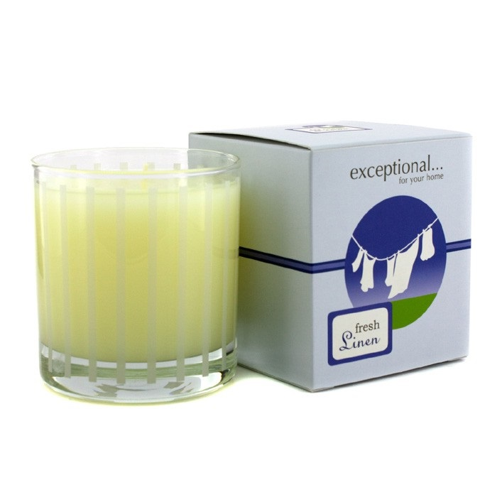 Fragrance candle fresh linen exceptional parfums f c for Aroma candle and scent company