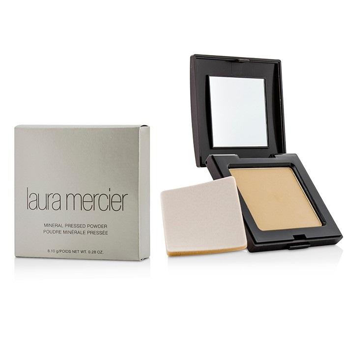 Laura Mercier Candleglow Powder Swatches: Laura Mercier Mineral Pressed Powder - Natural Beige
