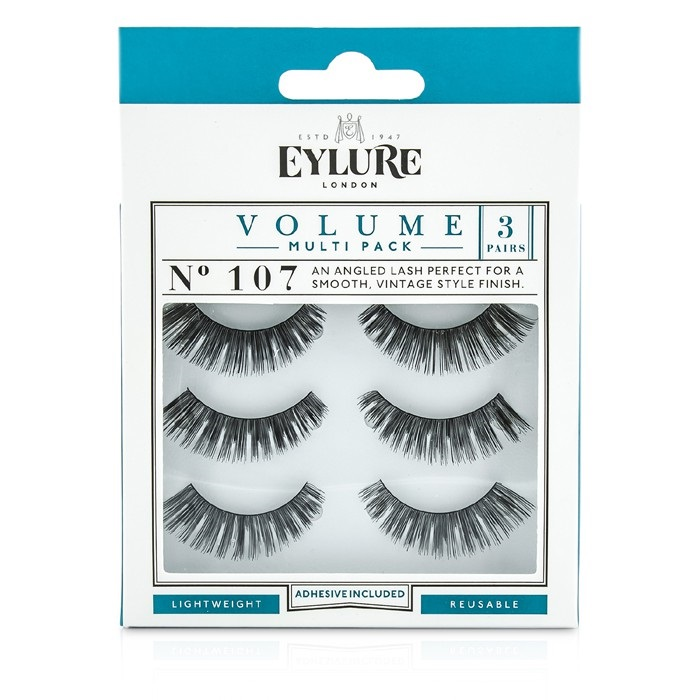 50ac1ce37a6 Eylure Volume False Lashes Multipack - 107 Black (Adhesive Included).  Loading zoom
