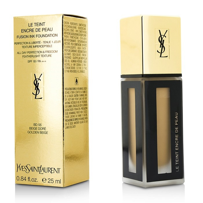 yves saint laurent le teint encre de peau fusion ink foundation spf18 bd55 beige dore fresh. Black Bedroom Furniture Sets. Home Design Ideas