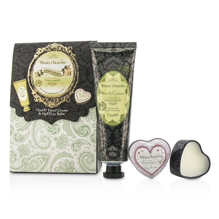 Heathcote ivory beau jardin hand lip set citrus grove for Beau jardin hand cream collection