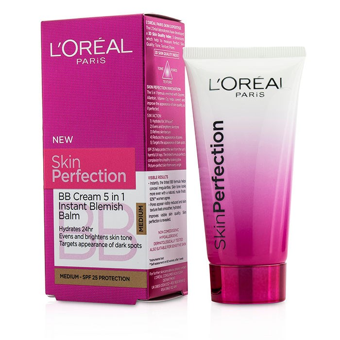 l 39 oreal skin perfection bb cream 5 in 1 instant blemish. Black Bedroom Furniture Sets. Home Design Ideas