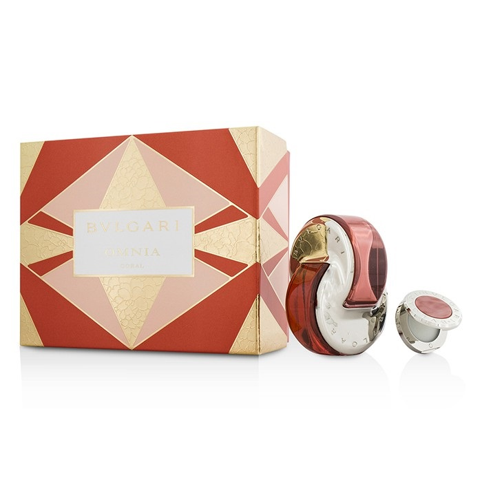 omnia coral coffret edt spray 65ml solid perfume. Black Bedroom Furniture Sets. Home Design Ideas