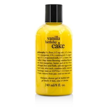 Vanilla Birthday Cake Shampoo Shower Gel Bubble Bath