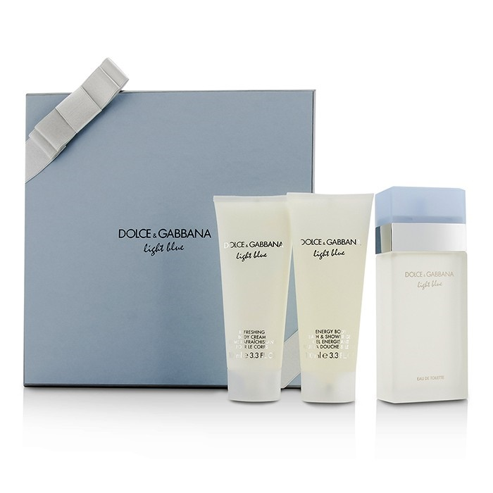 51a2d5d2421c23 Dolce   Gabbana Light Blue Gift Coffret  EDT Spray 100ml 3.3oz + Body.  Loading zoom