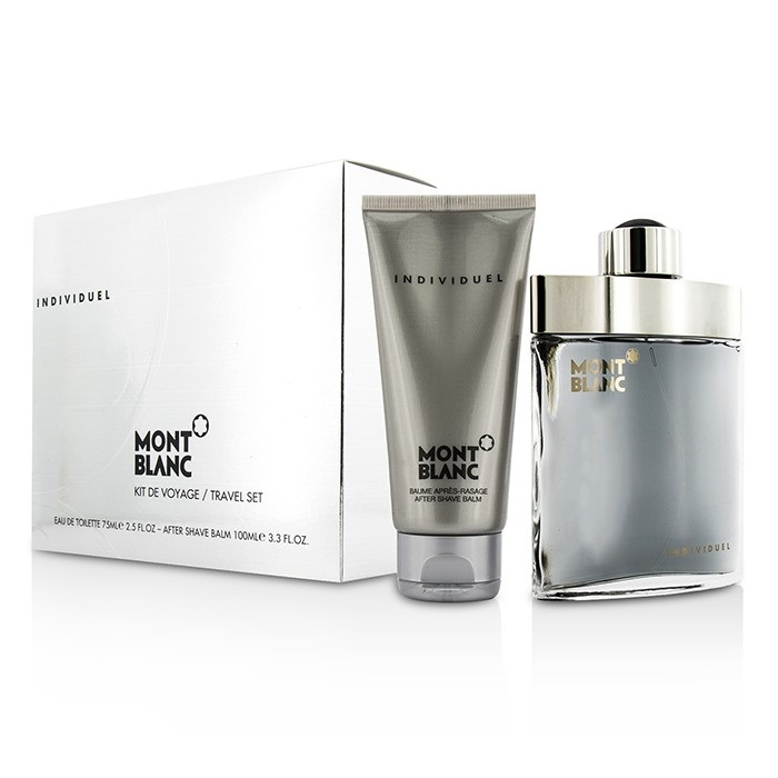 mont blanc individuel coffret edt spray 75ml after shave balm 100ml fresh. Black Bedroom Furniture Sets. Home Design Ideas
