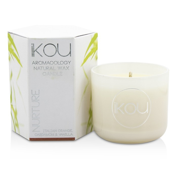 iKOU Eco-Luxury Aromacology Natural Wax Candle Glass - Nurture (Italian  Orange Cardamom & Vanilla) Home Scent
