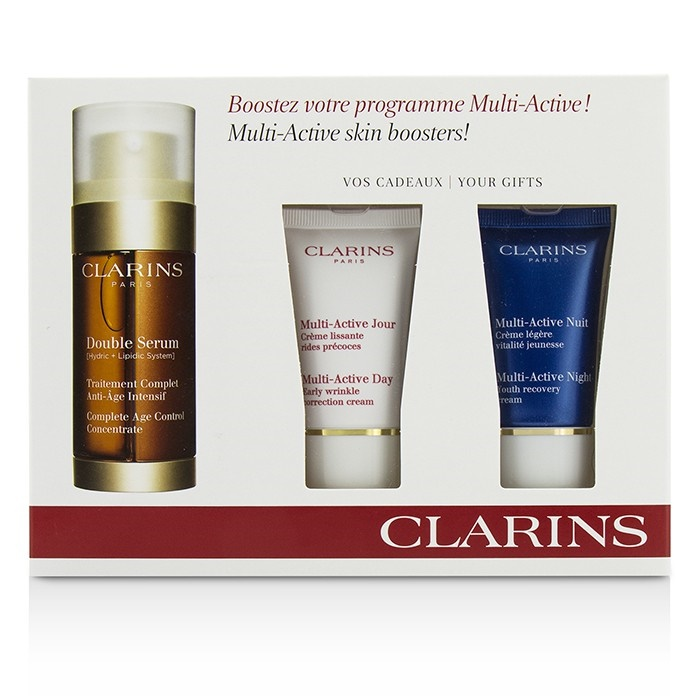 Clarins multi active skin boosters double serum 30ml for Active skin salon