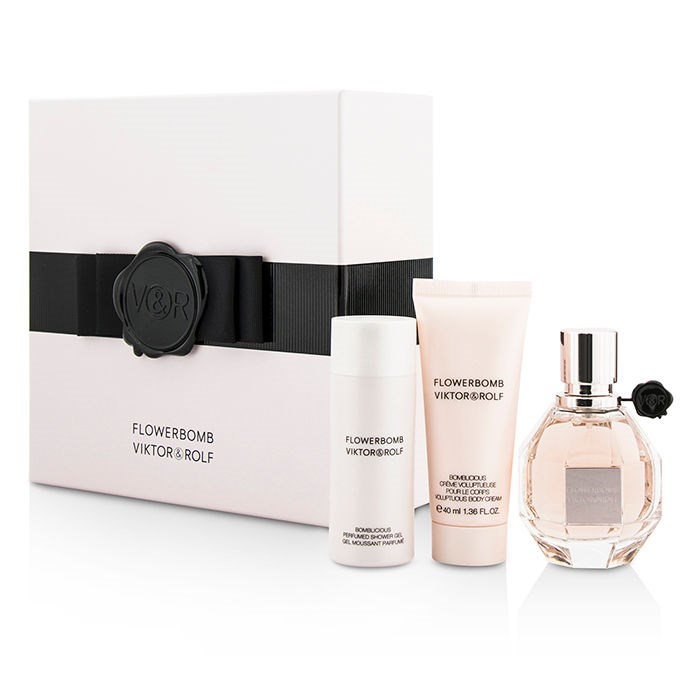 flowerbomb coffret edp spray 50ml body cream 40ml shower gel 50ml. Black Bedroom Furniture Sets. Home Design Ideas