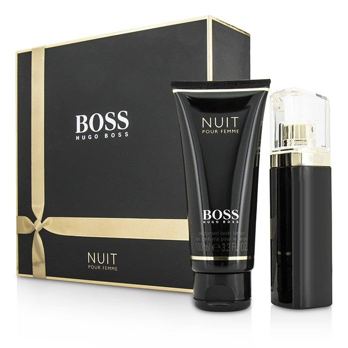 hugo boss boss nuit pour femme coffret edp spray 50ml 1. Black Bedroom Furniture Sets. Home Design Ideas