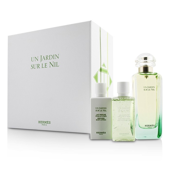 hermes un jardin sur le nil coffret edt spray 100ml body lotion 40ml shower. Black Bedroom Furniture Sets. Home Design Ideas
