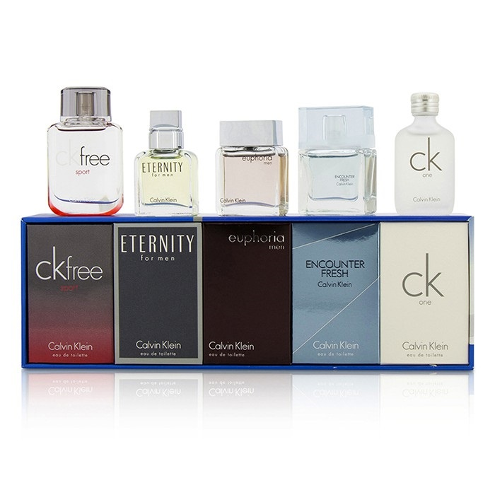 cd4887d00a Calvin Klein Miniature Coffret : CK One + Eternity + Euphoria + CK Free  Sport +. Loading zoom