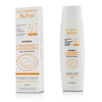 Avene Mineral Light Hydrating Sunscreen Lotion Spf 50 For