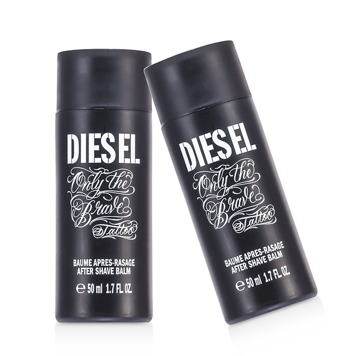 diesel only the brave tattoo after shave balm duo pack. Black Bedroom Furniture Sets. Home Design Ideas