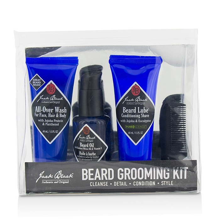beard grooming kit all over wash 44ml beard oil 30ml beard lube conditioning shave 44ml. Black Bedroom Furniture Sets. Home Design Ideas