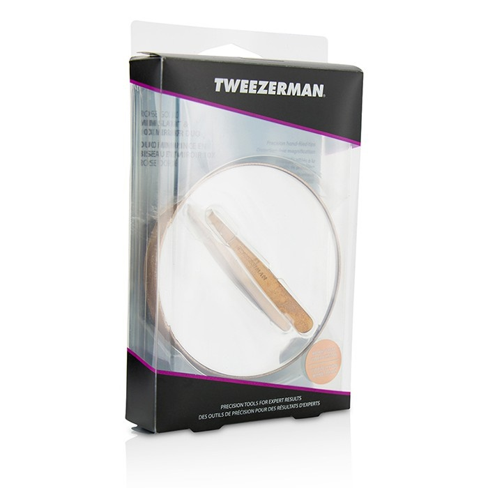 Tweezerman New Zealand Rose Gold Mini Slant Tweezer And